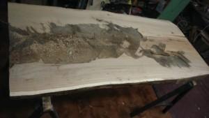 Hoblování dubové desky
