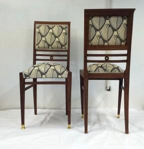 Židle pozdní secese po renovaci